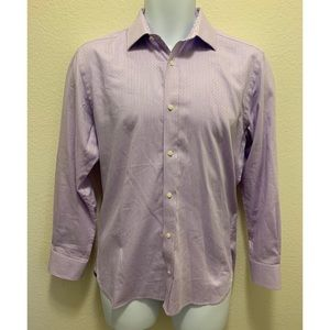 Ted Baker Endurance Slim Fit Shirt Purple Size 15